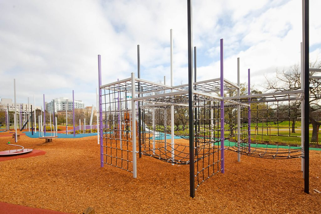Box Hill Garden's Playground is a great example of a playground that caters to older children