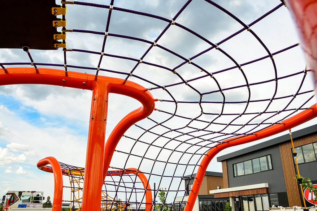 Massive Curve Suspended Structure Just Completed!